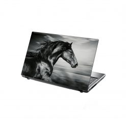 laptop skin black running horse