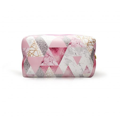Sparkle Triangles with Marble Make-up Bag