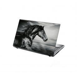 laptop skin black running horse