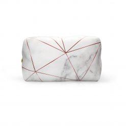 Rose Gold on Marble Make-up Bag